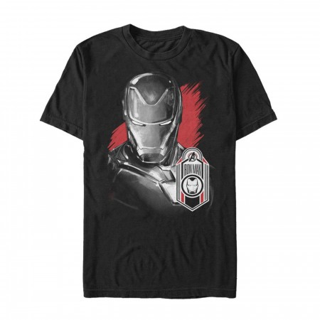 Avengers Endgame Iron Man Hero Badge Men's T-Shirt