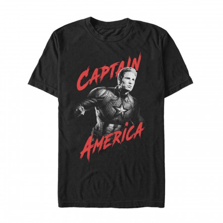 Avengers Endgame Captain America Heroic Shot Men's T-Shirt
