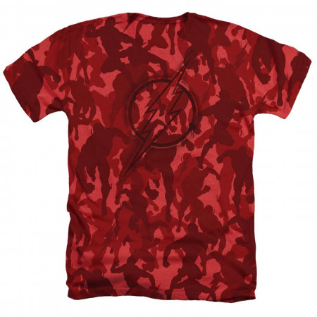 Flash Symbol All Over Red Camo Men's T-Shirt