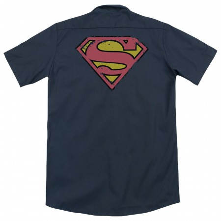 Superman Symbol Work Shirt