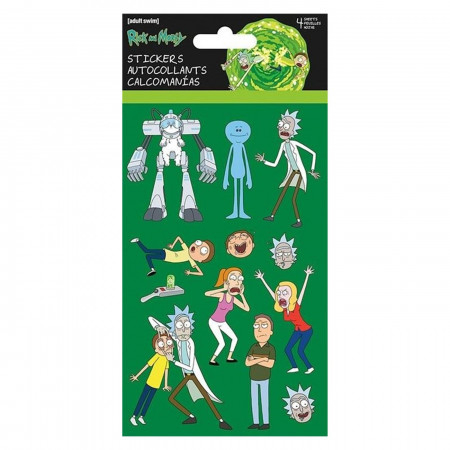 Rick & Morty Standard Stickers - 4-Sheets