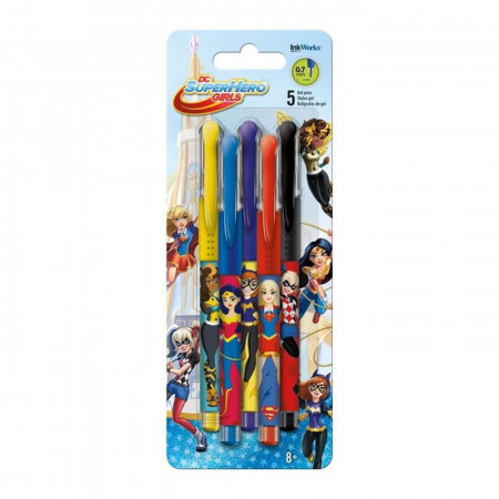 DC Super Hero Girls Gel Pens - 5-Pack