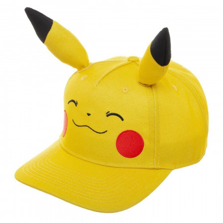 Pikachu Bigface Pre-Curved Bill Snapback Hat