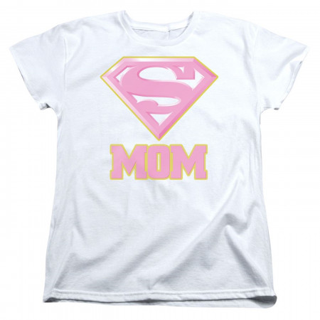 Super Mom Pink Mother's Day Superman Women's T-Shirt