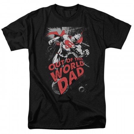 Out of this World Dad Superman Father's Day Men's T-Shirt