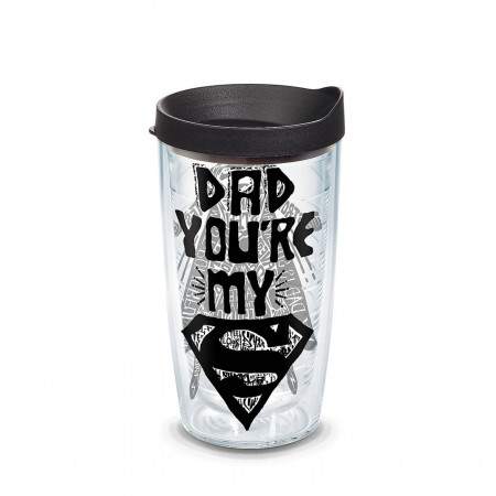 Superman Dad Wrap Tumbler With Lid 16 oz Tervis®