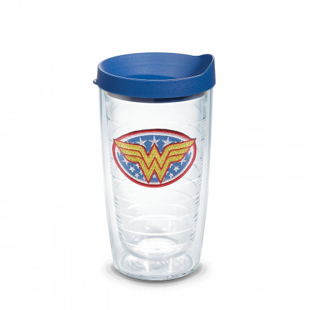 Wonder Woman Emblem Tumbler With Travel Lid 16 oz Tervis® Tumbler