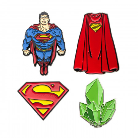 Superman Enamel 4-Piece Pin Set