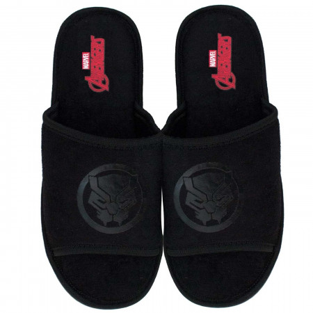 Black Panther Black on Black Soccer Slides