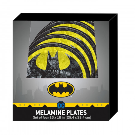 Batman Symbol Plate 4-Piece Set