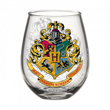 Harry Potter Hogwarts Crest 20oz Stemless Glass