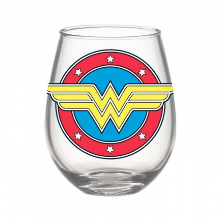 Wonder Woman Symbol 20oz Stemless Glass