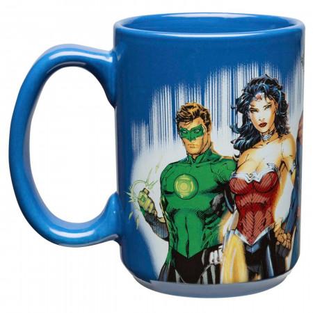 Batman, Superman, Flash, Wonder Woman & Green Lantern DC Comics Large 15 oz Coffee Mug