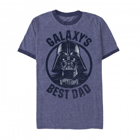 Vader Best Dad in the Galaxy Men's Ringer T-Shirt