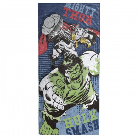 Avengers Thor and Hulk Beach Towel