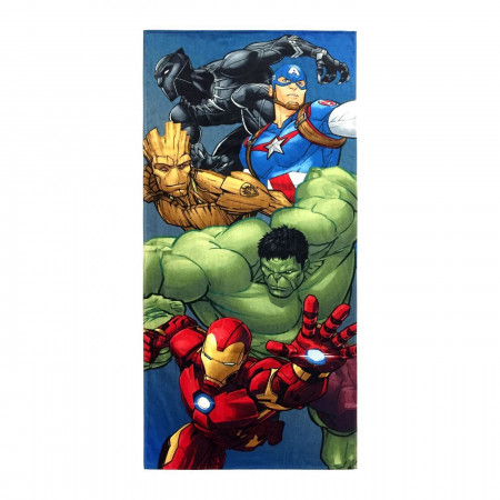 Avengers Group Shot Beach Towel