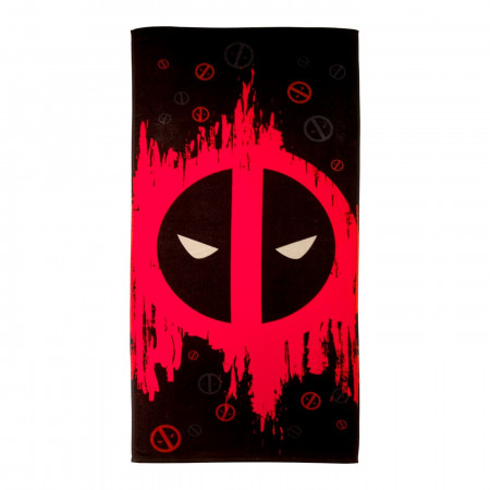 Deadpool Symbol Beach Towel