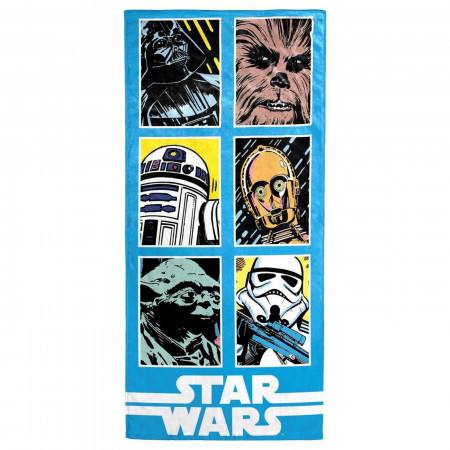 Star Wars Classic Grid Beach Towel