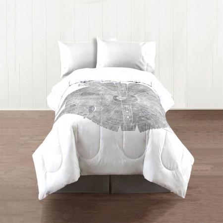 Star Wars Millenium Falcon King Size Comforter Bedding