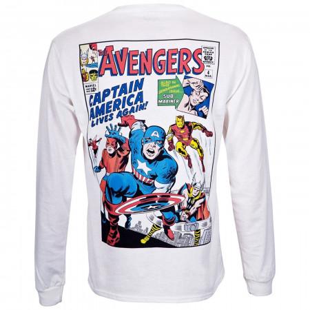 Avengers Classic Marvel Masterworks White Long Sleeve Shirt