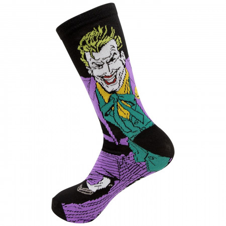 Joker Character and J Logo Men's 2-Pack Crew Socks