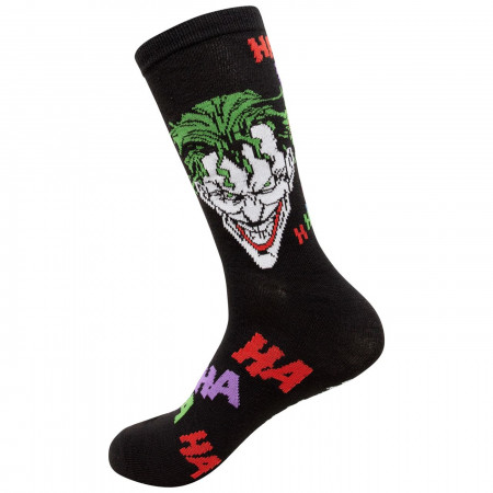 Joker Haha and Faces Men's 2-Pack Crew Socks