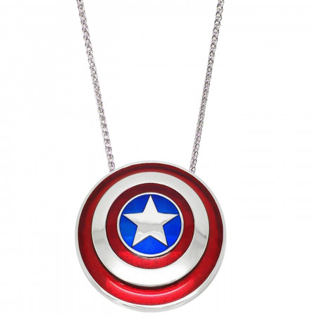 Small - Captain America Shield Necklace with Chain