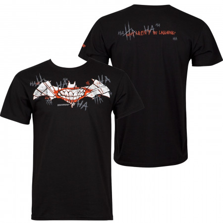 Joker Smile Bat Symbol Men's Hanes Nano Men's T-Shirt