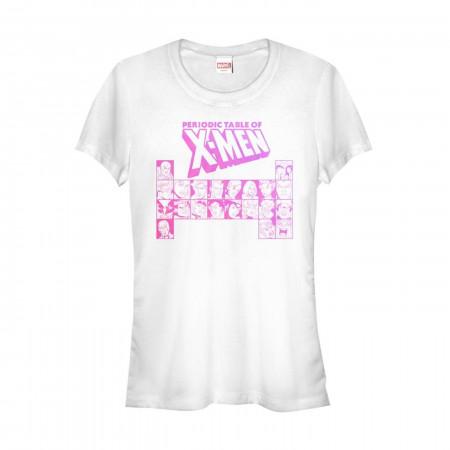 X-Men Periodic Table Women's White T-Shirt