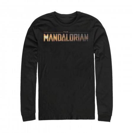 Star Wars The Mandalorian Logo Long Sleeve Shirt