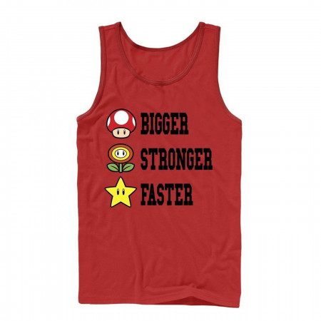 Mario Bigger Stronger Faster Tank Top