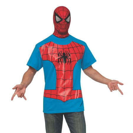 Spider-Man Costume T-Shirt with Mask