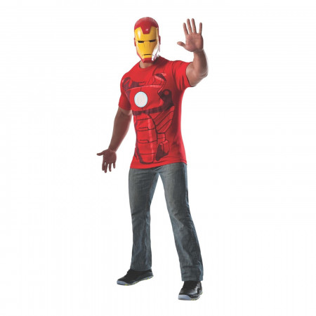 Iron Man Costume T-Shirt with Mask