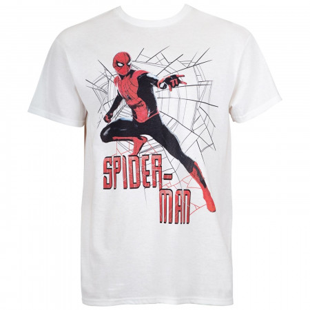 Spider-Man Character in Front of Webbing Men's T-Shirt