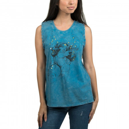Wonder Woman Mineral Wash Braided Tank Top