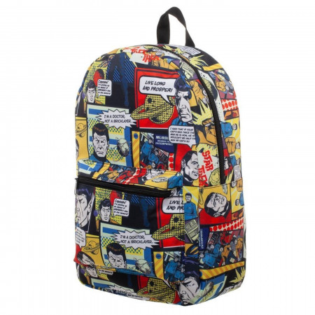 Star Trek All Over Print Comic Sublimated Backpack