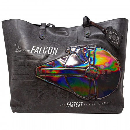 Star Wars Han Solo Millennium Falcon Tote with Iridescent Applique