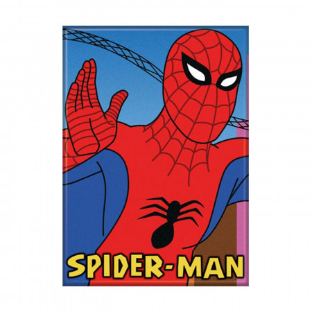 Cartoon Spider-Man Waving Magnet