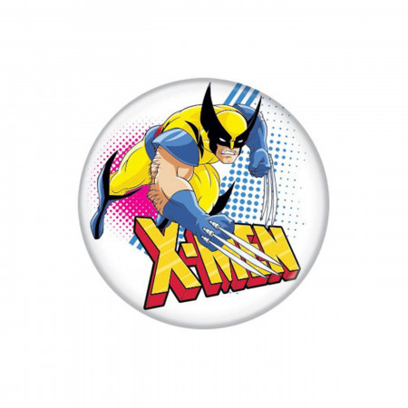 X-Men Cartoon Wolverine Button
