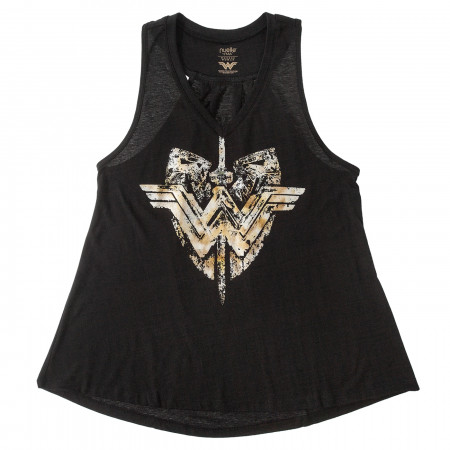 Wonder Woman Enlightened Dagger Shield Tank Top