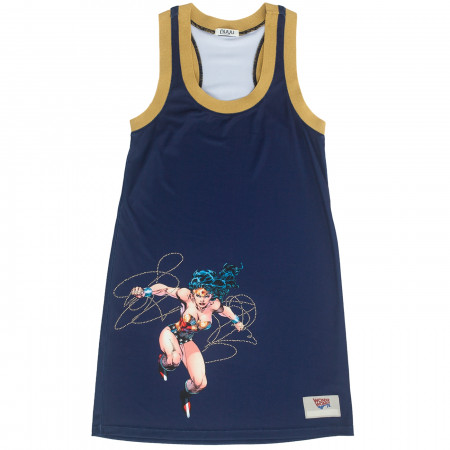 Wonder Woman Warrior Sporty Blue Tank Dress