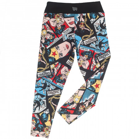 Wonder Woman Face of Justice Cropped Yoga Leggings