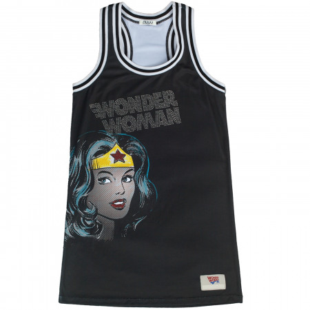 Wonder Woman Studded Racerback Tank Dress