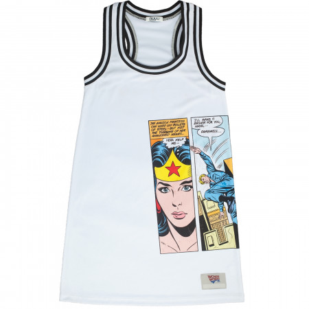 Wonder Woman Sporty White Racerback Tank Dress
