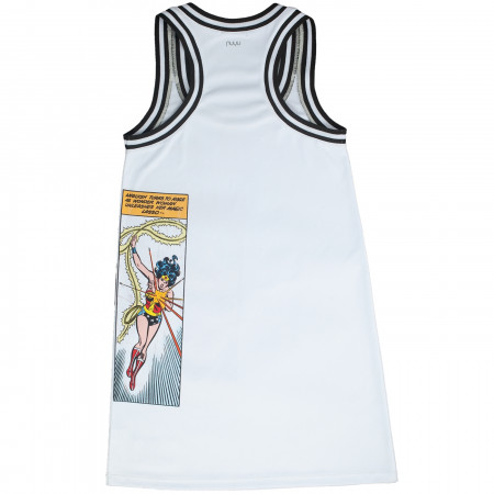 Wonder Woman Sporty White Racerback Tank Dress