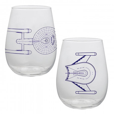 Star Trek 18 oz. Contour Glasses - Set of Two