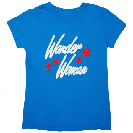 Wonder Woman Retro Blue T-Shirt
