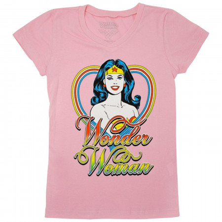 Wonder Woman Girls Pink T-Shirt