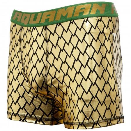 Justice League Aquaman Gold Armor Men's Boxers Briefs