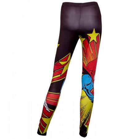 Superman Action Leggings